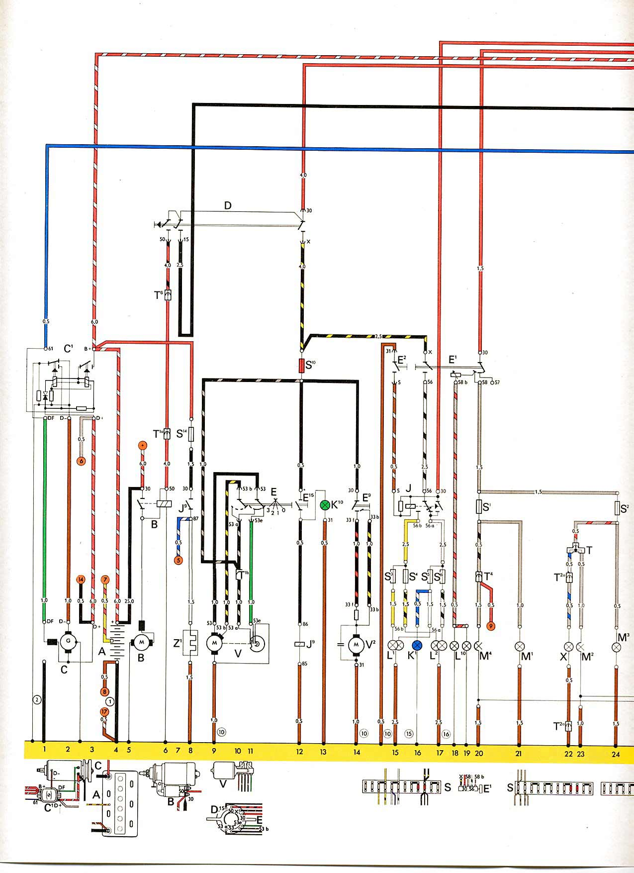 Elschema on 1966 vw wiring diagram