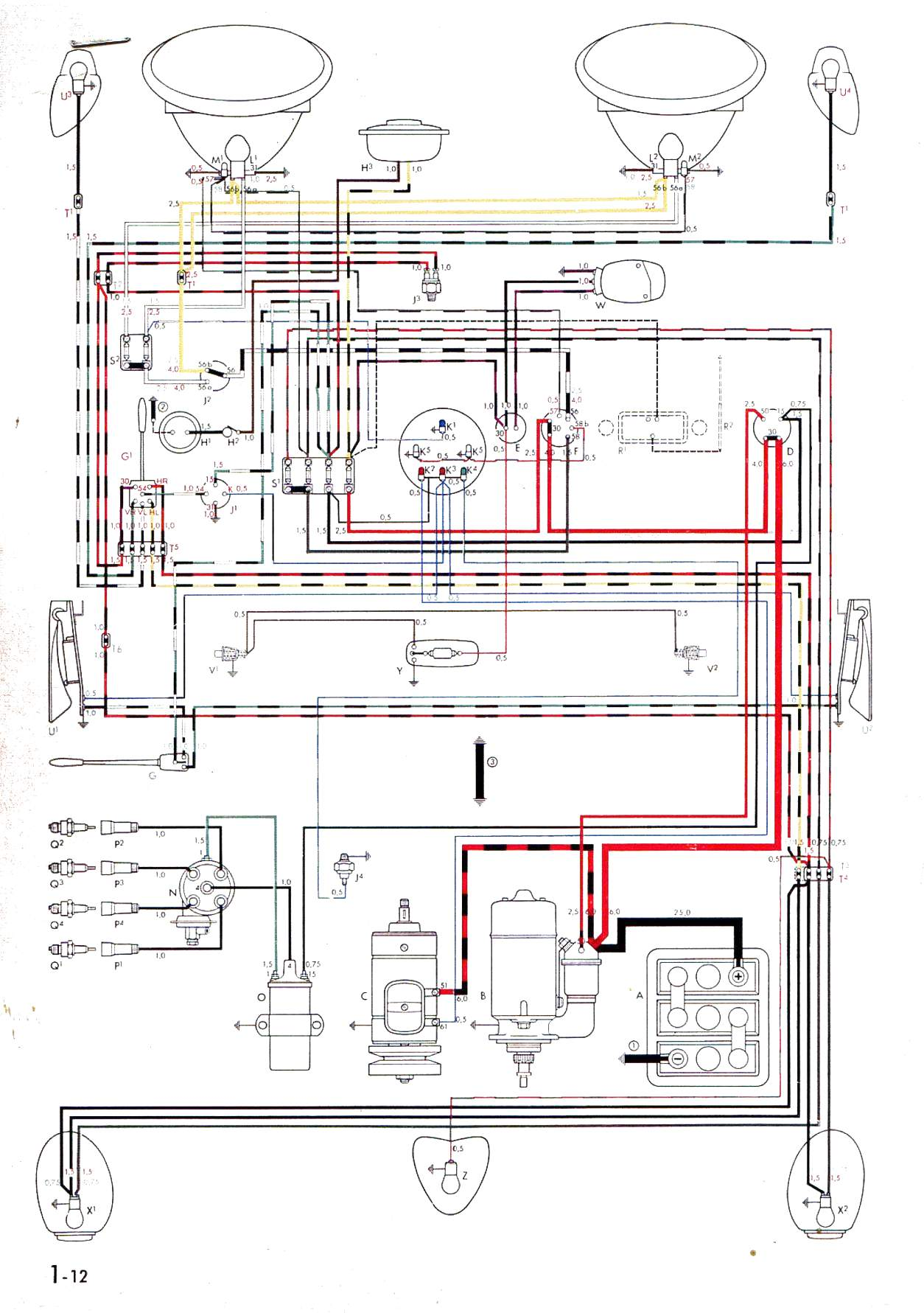 vw rail buggy wiring diagram vw rail wiring
