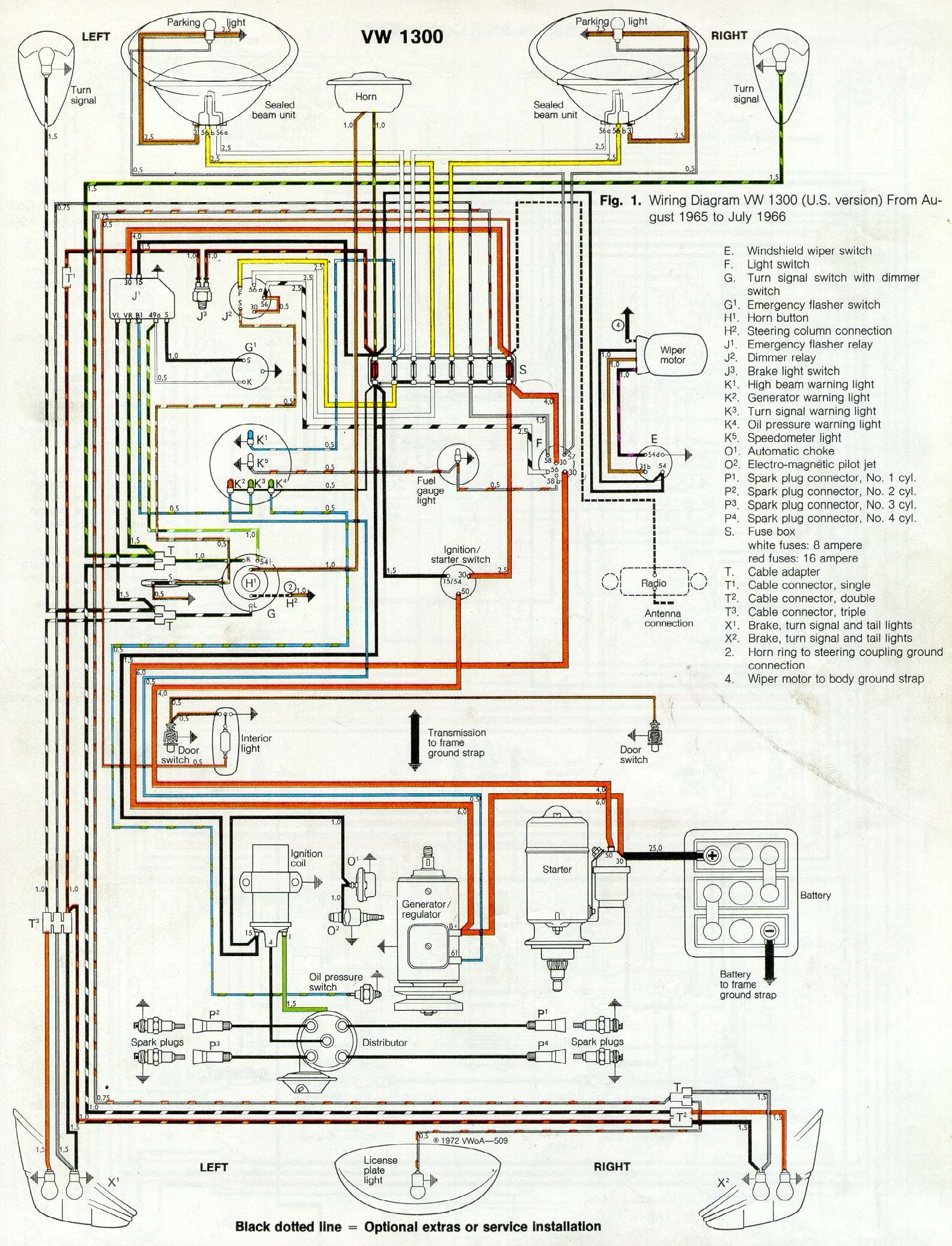 Wiringt2 additionally 1402297 No Spark On My 1966 Econoline Pickups 240 Inline 6 A furthermore Fan Heater Wiring likewise Bosch Relay Wiring Diagram For Horn additionally Battery and charging system. on 1966 vw wiring diagram