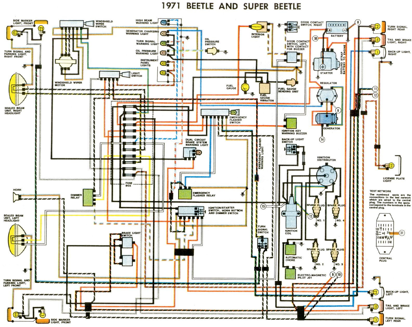 Electrical Wiring Diagram Of Automotive : Volkswagen typ