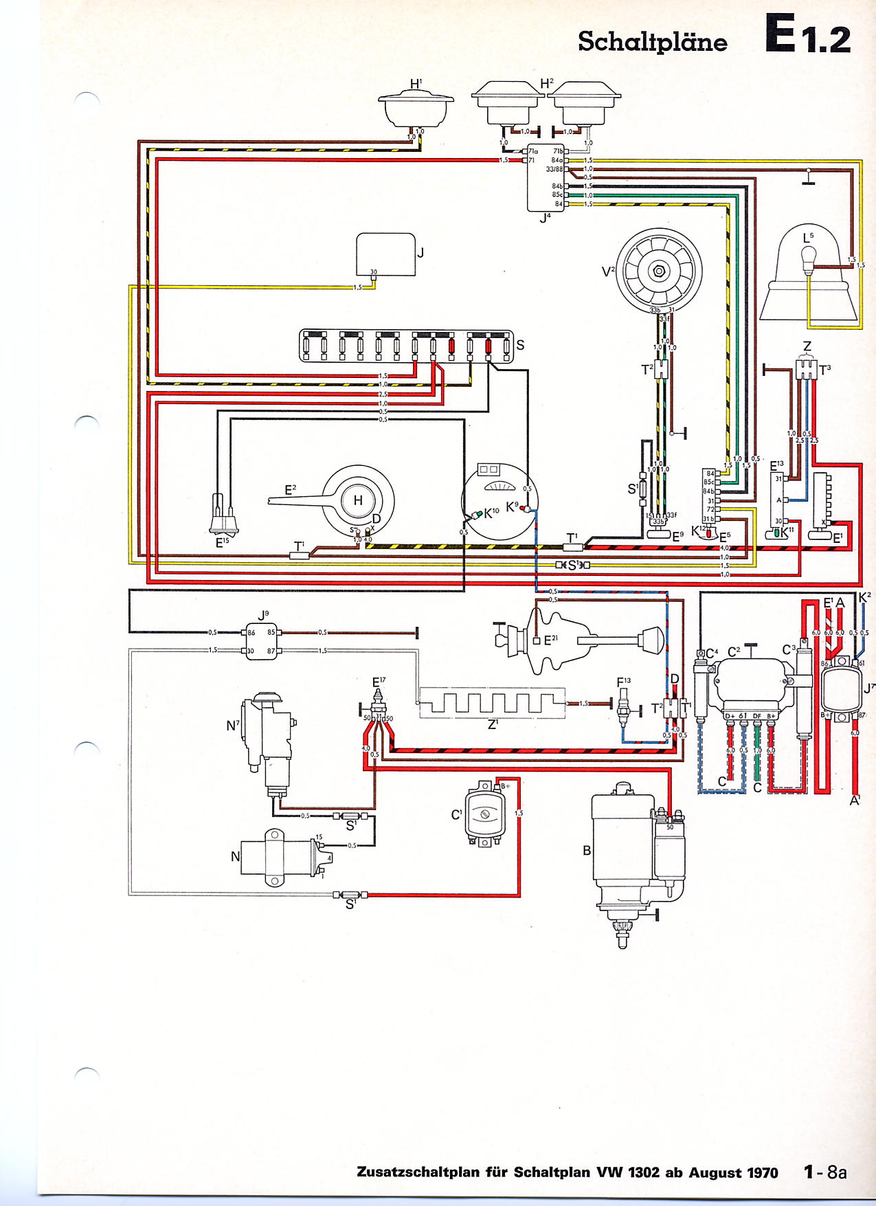 1958 Vw Beetle Wiring Diagram Great Installation Of 1972 Bug Turn Signal Vwtyp1 Com 1970 1965